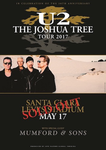 U2 The Joshua Tree Tour 2017 - Santa Clara