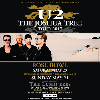 U2 The Joshua Tree Pasadena