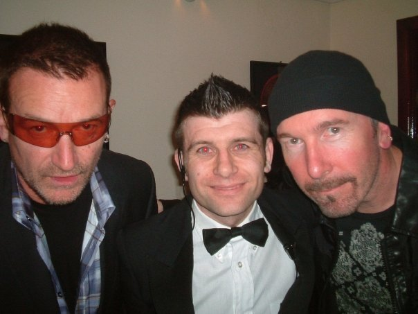Bono y The Edge con Michael Byrne