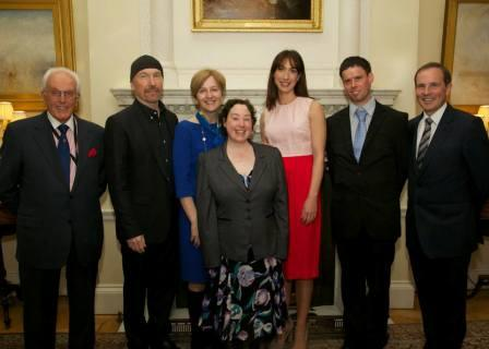 The Edge en el 10 Downing Street de Londres