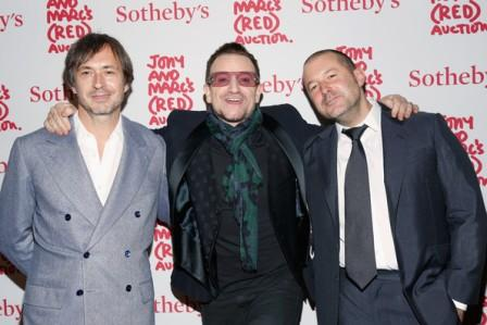 Marc Newson, Bono y Jony Ive