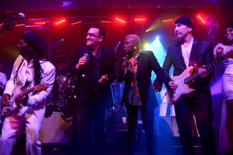 Nile Rodgers, Bono, Angelique Kidjo y The Edge