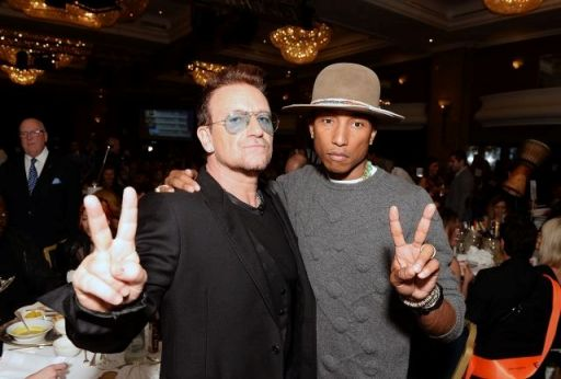 Bono con Pharrell Williams