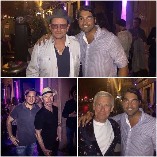 Bono, Adam y The Edge en Jockey
