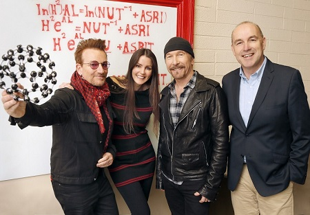 Bono y The Edge en Dublín