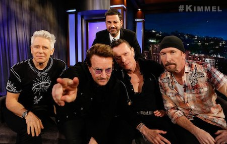 U2 presentó 'The Little Things That Give You Away' en Jimmy Kimmel Live!