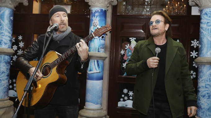 Bono y The Edge con Ellen Degeneres