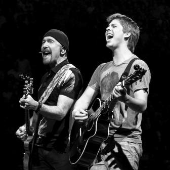 Ignacio con The Edge en el Madison Square Garden